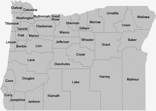 Oregon Secretary Of State County Histories - Oregon county maps