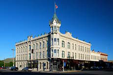 Hotel built in an Italianate Victorian architecure style designed by architect John Bennes.