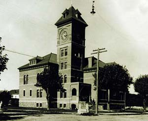 1898 lane county courthouse with belltower.