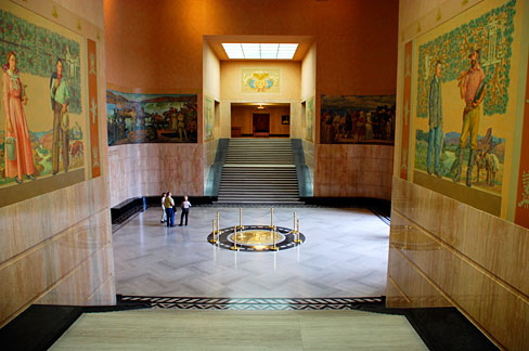 The lobby of the Oregon State Capitol in Salem