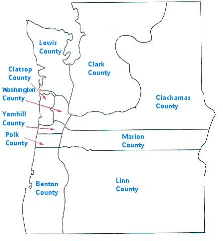 Oregon Secretary Of State Historical Oregon Maps - Oregon on us map