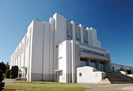 1930s white art deco building