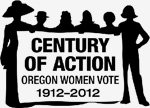 logo celebrating century of women's right to vote, 1912 to 2012