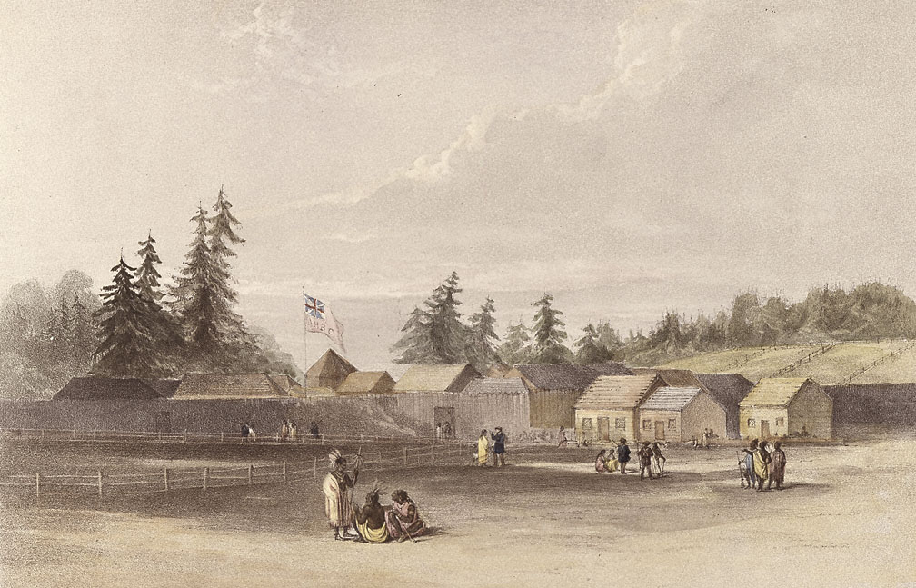 drawing of Fort Vancouver