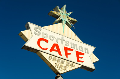 Sportsman Cafe sign