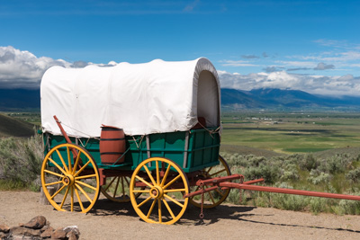 Replica of a covered wagon