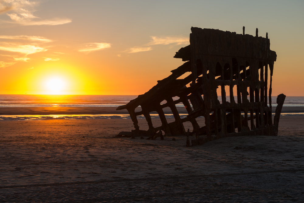 wrecked ship at Fort Stevens State Park