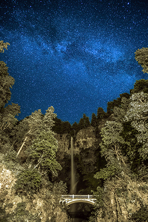 Milky Way and Multnomah Falls